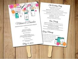 wedding fan program template wedding program template 64 free word pdf psd documents