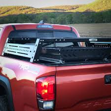 nissan titan bed rack rear view of empty bike rack in truck bed pickup truck load bed