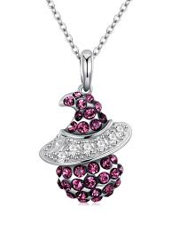 chain pendant necklace images New 2018 sterling silver chain pendant necklace in maroon zaful jpg
