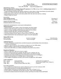 Example Of Medical Resume by Example Of A University Resume Online Writing Lab
