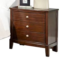 Contemporary Nightstand Ls Nightstands Townsend Simple Oak 3 Drawer Nightstand