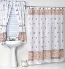 Shower Curtain With Matching Window Curtain Curtain Bathroom Window Curtains And Matching Shower Curtains