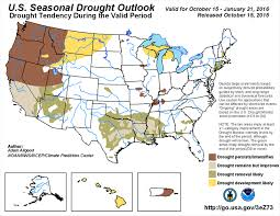 california drought map january 2016 forecast strong el niño will improve california drought