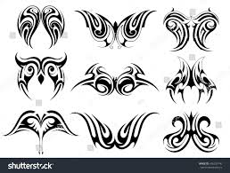 set tribal art tattoos including various stock vector 436235140