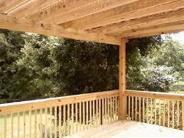 pergola with lattice over deck the carolina carpenter
