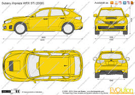 yellow subaru wrx the blueprints com vector drawing subaru impreza wrx sti