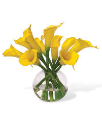 silk calla lilies buy calla silk flower centerpiece at petals