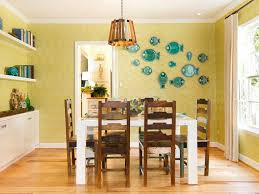 Wall Decor Ideas For Dining Room Attractive Smart Dining Room Decorating Ideas With Yellow Painted