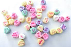 heart candy sayings conversation hearts pretzel bites two crafting