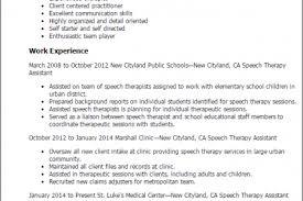 Sample Speech Pathologist Resume by Speech Therapist Resume Sample Reentrycorps