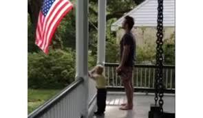 Porch Flag Chris Pratt And Son Adorably Recite Pledge Of Allegiance Together