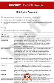 reseller contract template agreement template distributor contract sle
