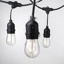 foot weatherproof outdoor string lights s14 led bulbs included