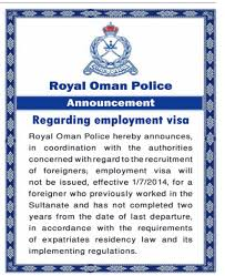 no objection letter for employee 2 year visa change ban on expat employees in oman is back u2013 kishor