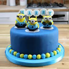 simple blue minion cake tutorial despicable me birthday cakes