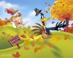 elmer fudd chasing daffy duck who looks like a turkey daffy
