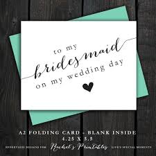 Cards To Ask Bridesmaids Printable Bridesmaid Thank You Card
