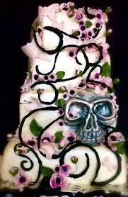 Halloween Wedding Cake by Cherry Blossoms Butterflies And Skull Wedding Cake Cherry