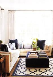 country blue and beige living jute rug apartment ideas