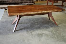 modern trestle dining table hand made live edge slab dining table with modern trestle base by