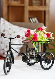 shop for home decor online buy pindia wrought iron small miniature flower rikshaw online at