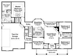 house plans country style floor plan of country southern traditional house plan 59180