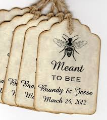 honey jar wedding favors 100 personalized wedding favor place card tags card tags