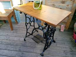 Antique Singer Sewing Machine Table Upcycled Vintage Singer Sewing Machine Table In Portadown