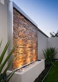 Backyard Ideas Australia Stone Clad Water Wall Kit Contemporary Water Feature Osborne Park