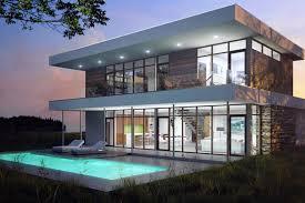 Modern Style House Plan  Beds  Baths  SqFt Plan - Modern style home designs