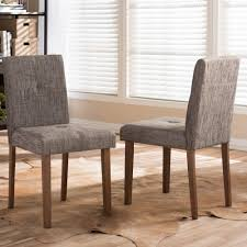 Upholstered Dining Chair Set Baxton Studio Elsa Gray Fabric Upholstered Dining Chairs Set Of 2