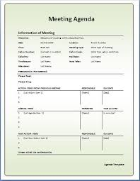 10 formally used agenda templates formal word templates