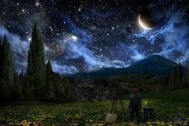 van gogh digital art starry night by alex ruiz