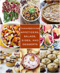 thanksgiving appetizers salads sides and desserts broken