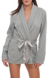 robe de chambre hiver robe de chambre courte gris polaire simply gris polaire