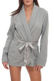 peignoir de chambre robe de chambre courte gris polaire simply gris polaire