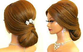 hairstyles to do on manikin bridal hairstyle for long hair tutorial romantic prom updo youtube