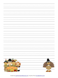 thanksgiving handwriting paper free printable