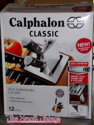 self sharpening kitchen knives calphalon classic self sharpening 12 pc cutlery set with sharpin