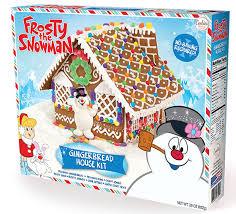 frosty snowman gingerbread house kit