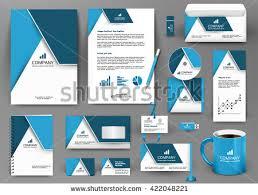 blue luxury branding design kit hotel stock vector 413623036