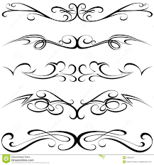 calligraphic tattoo stock vector image of style border 24665547