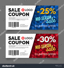 gift voucher template set two cards stock vector 342449687
