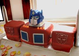 optimus prime cake pan bon appegeek archive a transformers groom s cake more