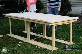 Table And Benches For Sale Ikea Hack Build A Farmhouse Table The Easy Way East Coast Creative