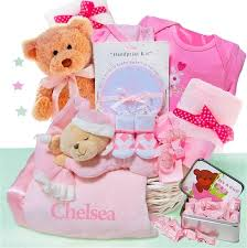baby gufts beginnings luxury personalized baby girl gift basket