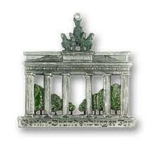 german brandenburg gate pewter ornaments