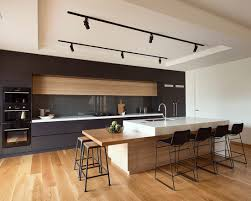 Kitchens With Track Lighting by Modern Track Lighting Impressive American Oak With Clear Coat