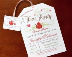 etsy wedding shower invitations printable tea invitation tea bag cut out floral