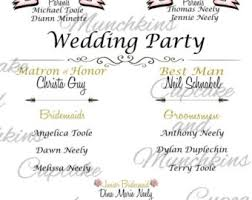 in memory of wedding program wedding introduction etsy